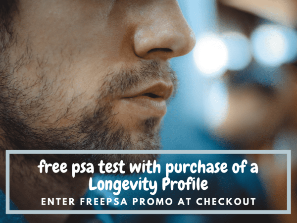 Free PSA test with purchase of a Longevity Profile